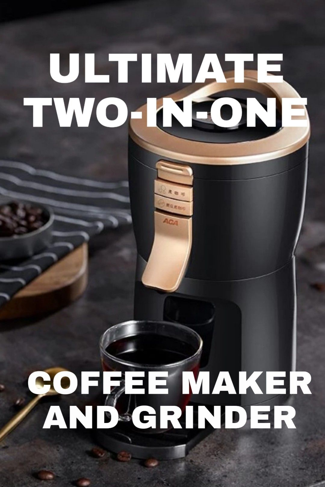 This Coffee Maker is a brewer AND a grinder! Best coffee