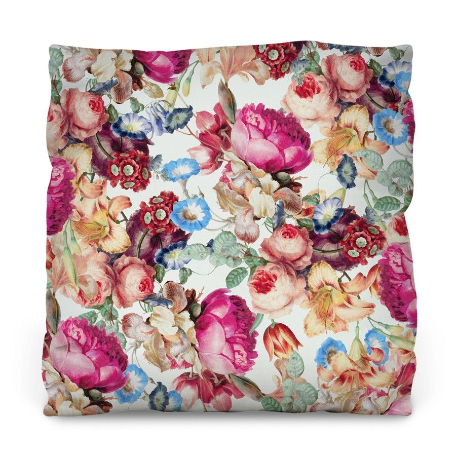 Floral Crush Outdoor Throw Pillow
