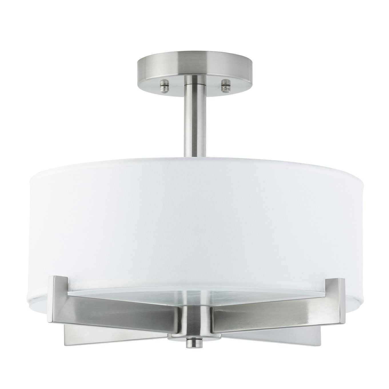 80 Linea Di Liara Allegro Semi Flushmount Ceiling Lamp 3 Light Fixture Brushed Nickel With