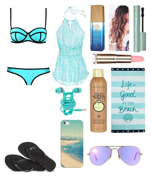 """☀️Summer Hair don't care☀️"" by luna1116 ❤ liked on Polyvore featuring Havaianas, Victoria's Secret, Alterna, Too Faced Cosmetics, Sun Bum, Lexington, Casetify and Ray-Ban"