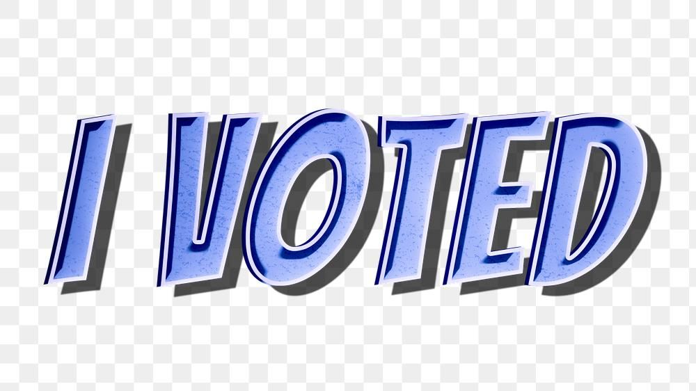 I Voted Png Cartoon Word Sticker Typography Free Image By Rawpixel Com Chim In 2020 Typography Words Slogan Design