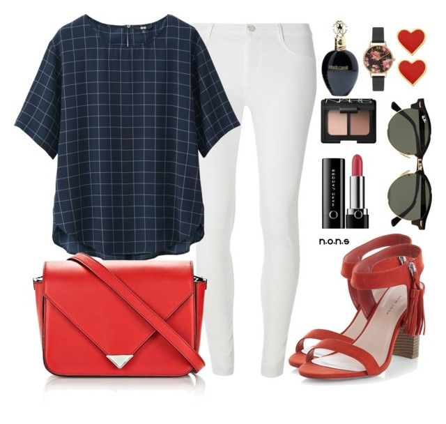 #5 #SIMPSTYLE #NONS by noviaandriani on Polyvore featuring polyvore, fashion, style, Uniqlo, Dorothy Perkins, New Look, Alexander Wang, Olivia Burton, Ray-Ban, Marc Jacobs, NARS Cosmetics, Roberto Cavalli and clothing