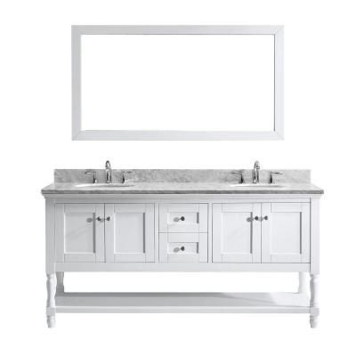 Virtu Usa Julianna 72 In W Bath Vanity In White With Marble