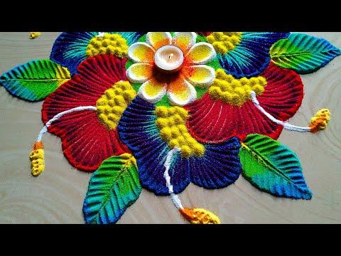 Navratri durga Pooja rangoli design/Diwali Dussehra rangoli