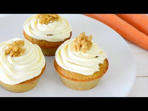 Cupcakes de Zanahoria | SALUDABLES, FÁCILES Y RÁPIDOS | AUXY - YouTube