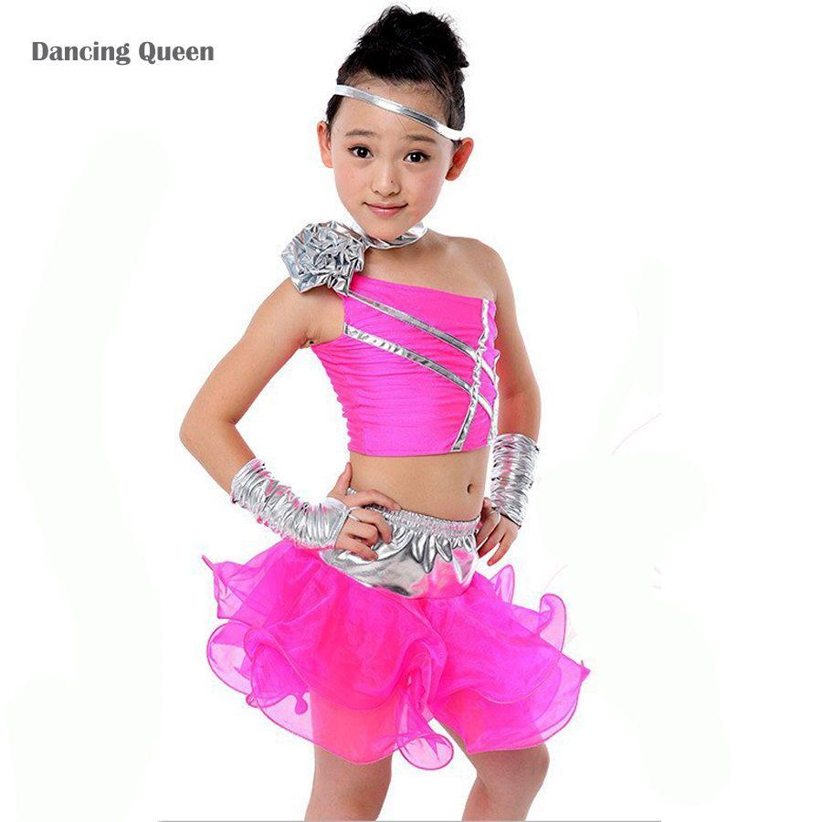 g252nstige latin dance kleid f252r m228dchen roseblau kinder