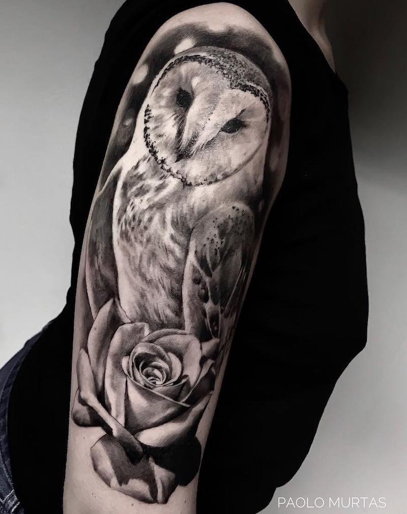 Owl Tattoos | White owl tattoo, Realistic owl tattoo, Owl ...