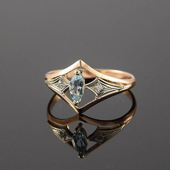 art deco ring topaz ring gemstone ring geometric ring promise ring antique ring birthstone. Black Bedroom Furniture Sets. Home Design Ideas