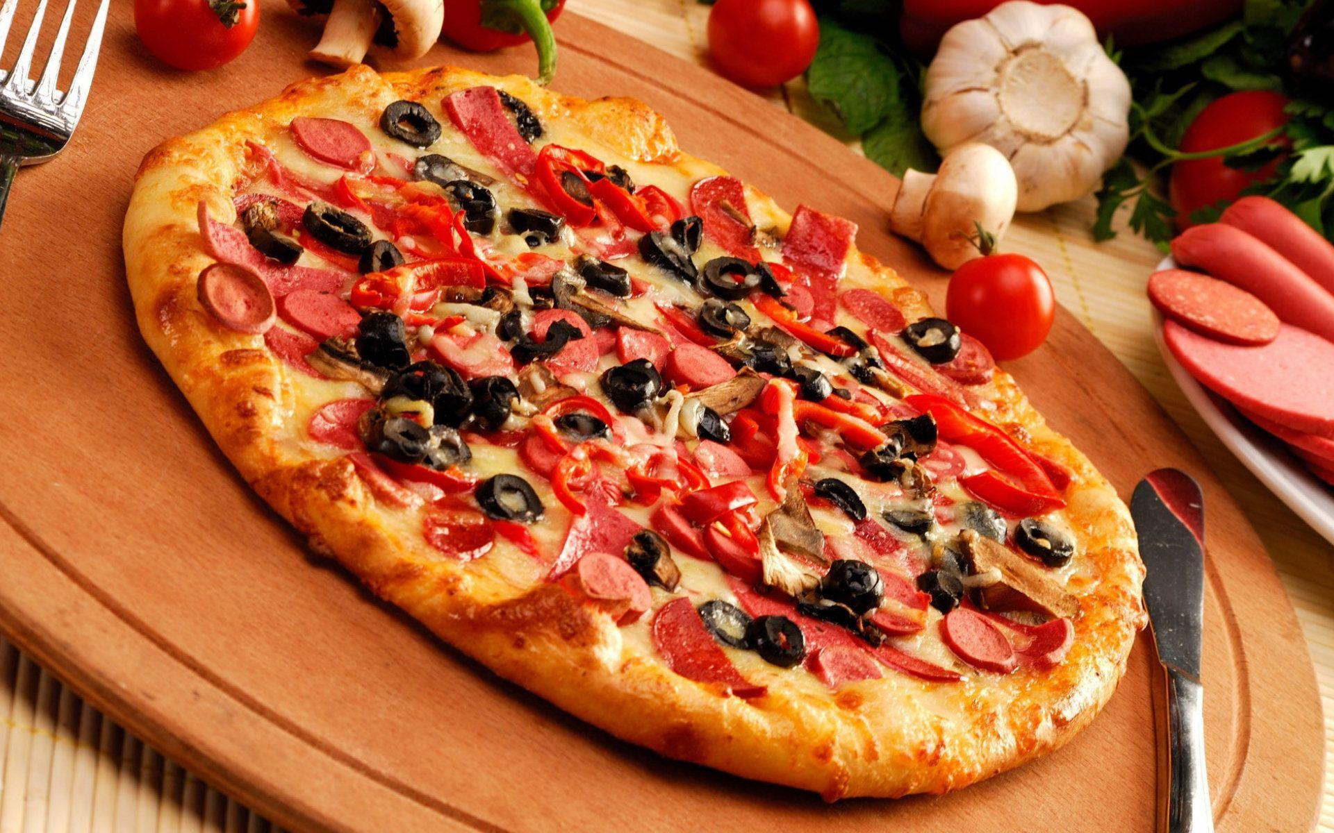 Pepperoni Pizza Wallpaper High Definition Delicious