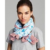 MARC+BY+MARC+JACOBS+Doodle+Print+Scarf