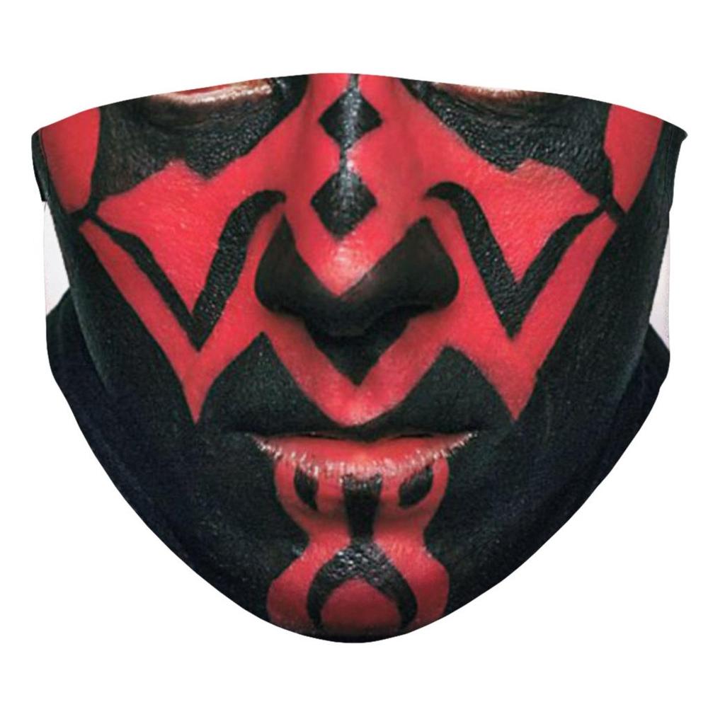 Darth Maul Face Mask Sublimation Face Mask Etsy Face Mask Mask Layer Mask