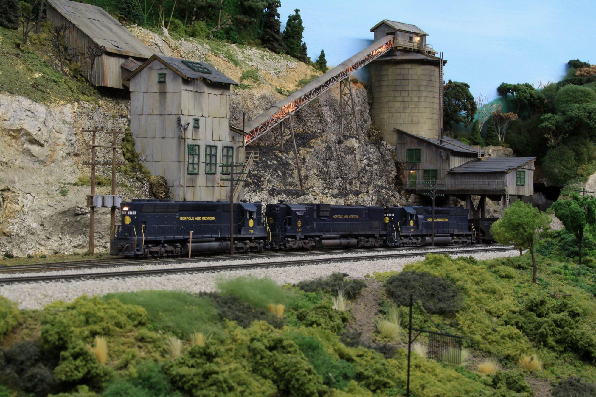 Model Railroad Coal Mine Examples Loadin Coal Theres