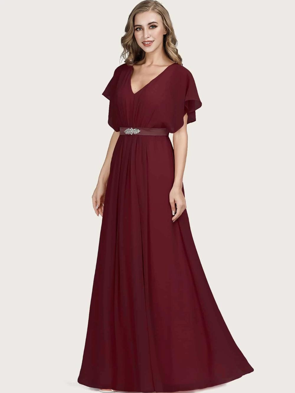 Everpretty Rhinestone Detail Gathered Waist Batwing Prom Dress Shein South Africa Dresses Prom Dresses Dress P [ 1332 x 1000 Pixel ]