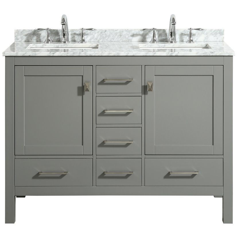 Furlow 48 Double Bathroom Vanity Set Grey Bathroom Vanity