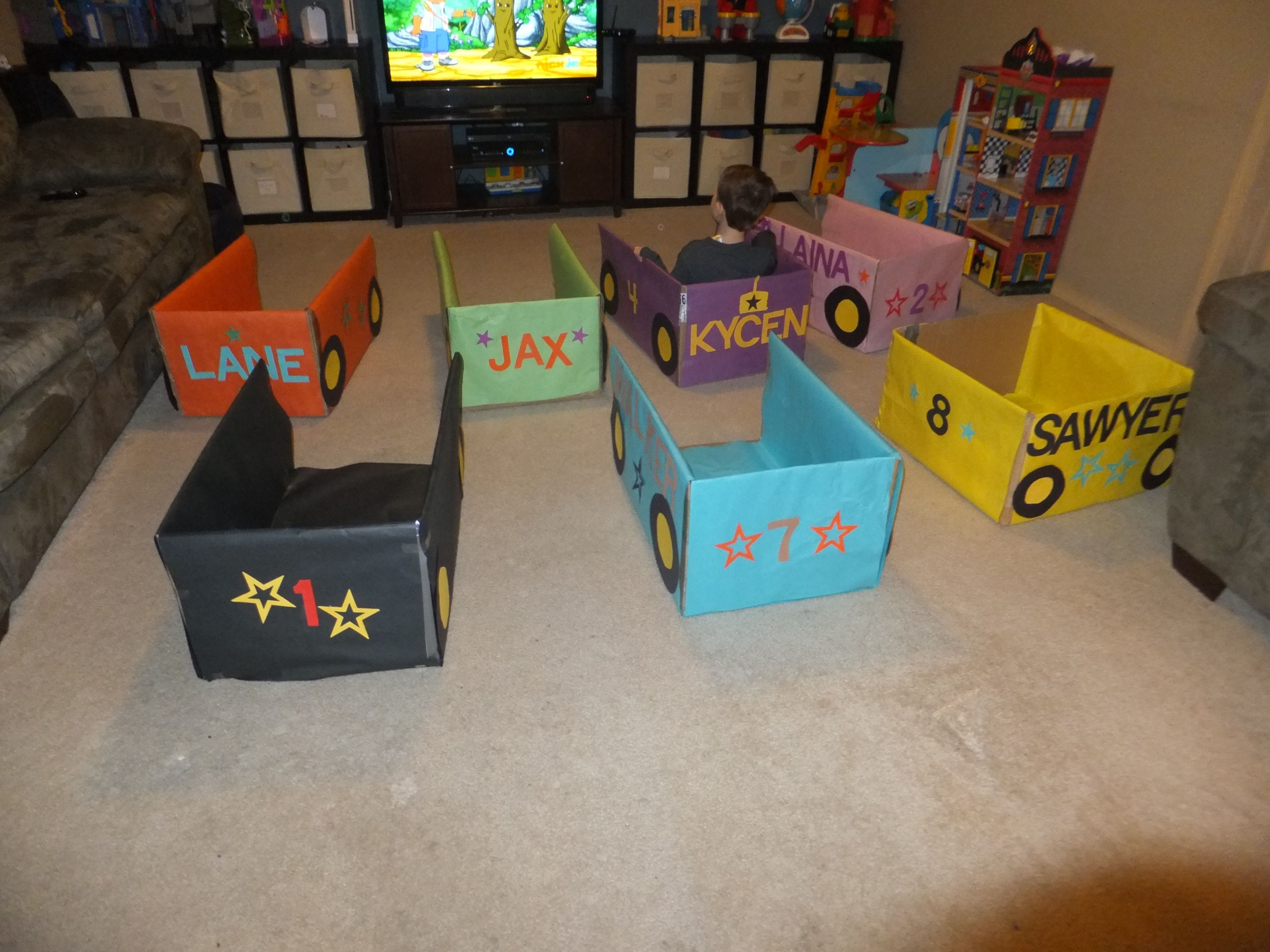 Cars we created for my son's 4th birthday party. It was a