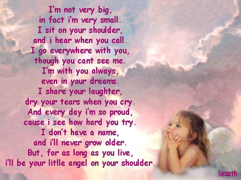 Baby Guardian Angel Quotes: Letting A Woman Know She Had An ANGEL BABY ...