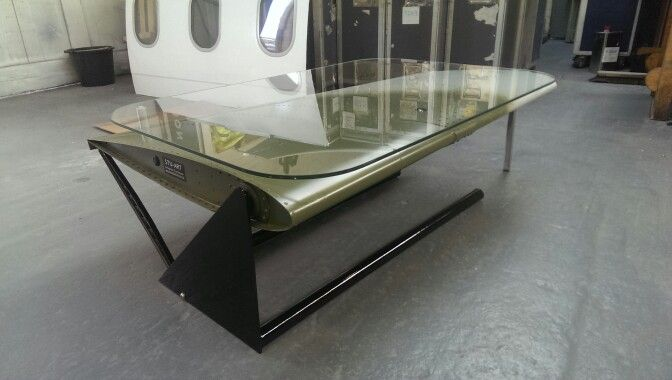 Lynx helicopter tailplane coffee table Avia Style from pioneer art