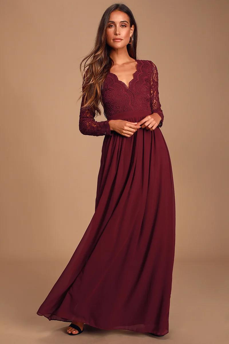 Cape Sleeve Maxi Dress | Stunning bridesmaid dresses