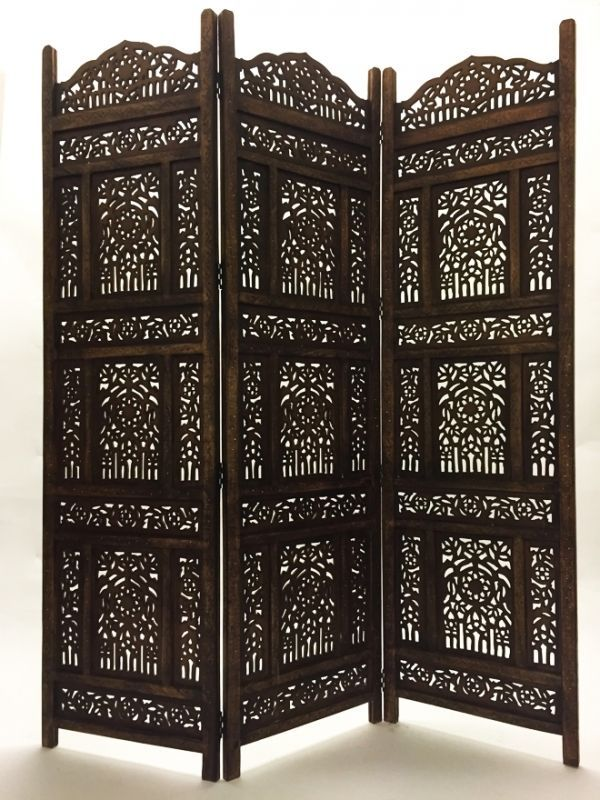 orient orientalischer indische holz paravent raumteiler trennwand spanische wand in m bel. Black Bedroom Furniture Sets. Home Design Ideas