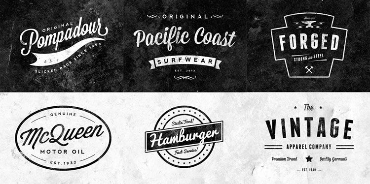 10 Free Vintage Logo Badge Template Collections Gambar