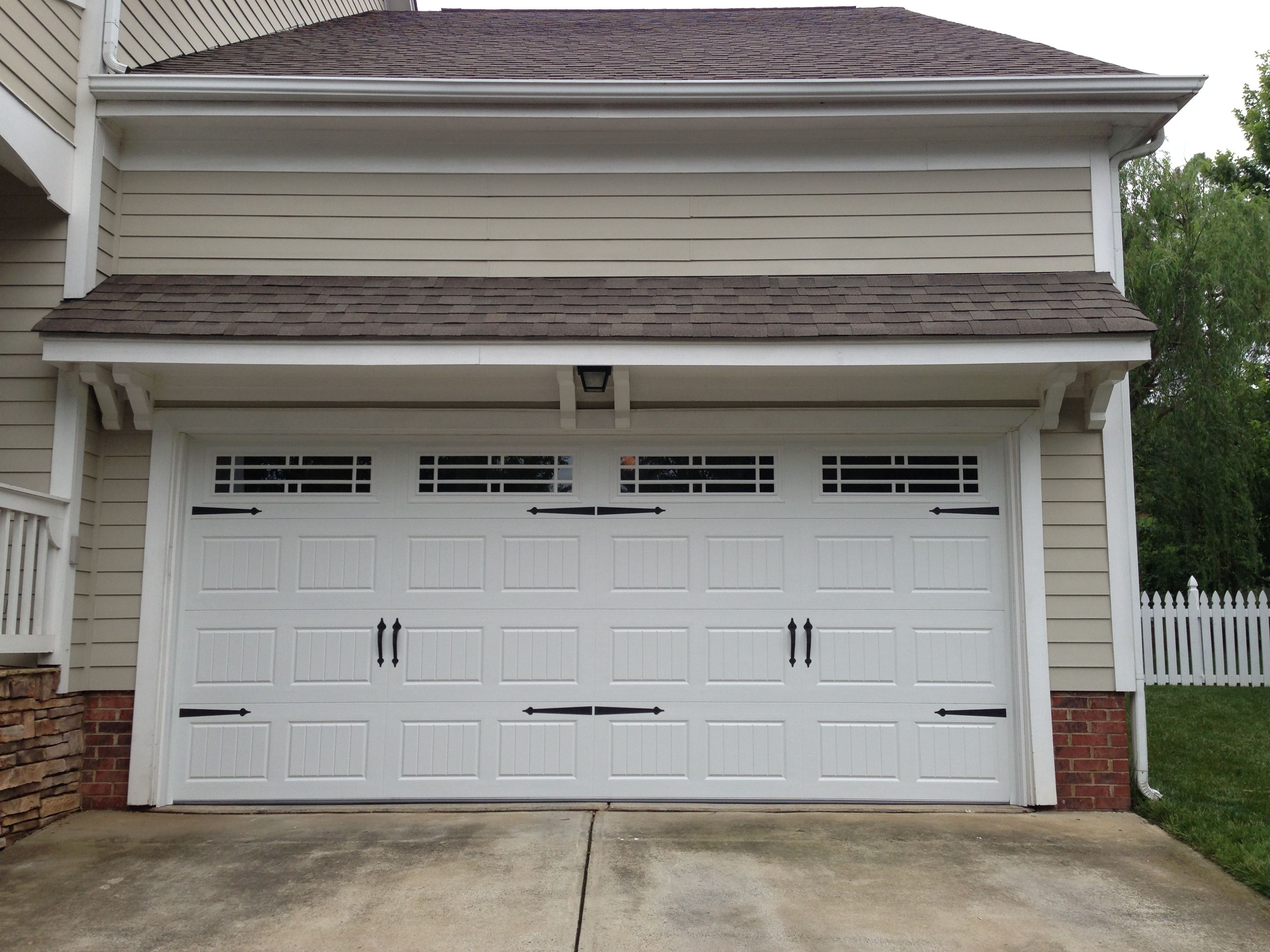 mahogany carriage maintenance colonial stain finished composite pin garage doors full pre no in