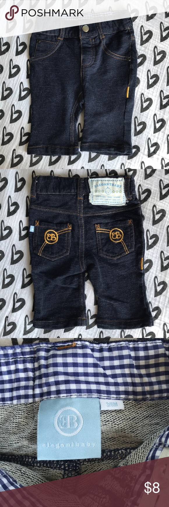 9630acdce1e Elegant Baby my 1st jeans 👖 NWOT Baby s First Jeans from Elegant Baby look  just like Daddy s. Made of comfortable 100% cotton knit denim