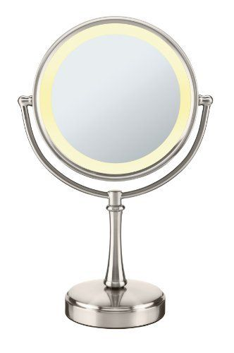 Conair Touch Control Double Sided Mirror Satin Nickel 8 Inch By