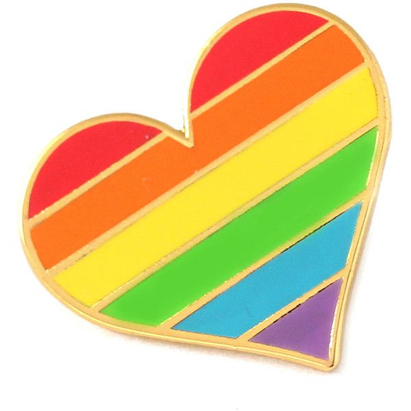 c7714f5aa Lesbians pride pin, gay lapel pin, lesbian flag pin, heart enamel pin,...  ($9.37) ❤ liked on Polyvore featuring jewelry, brooches, heart-shaped  jewelry, ...