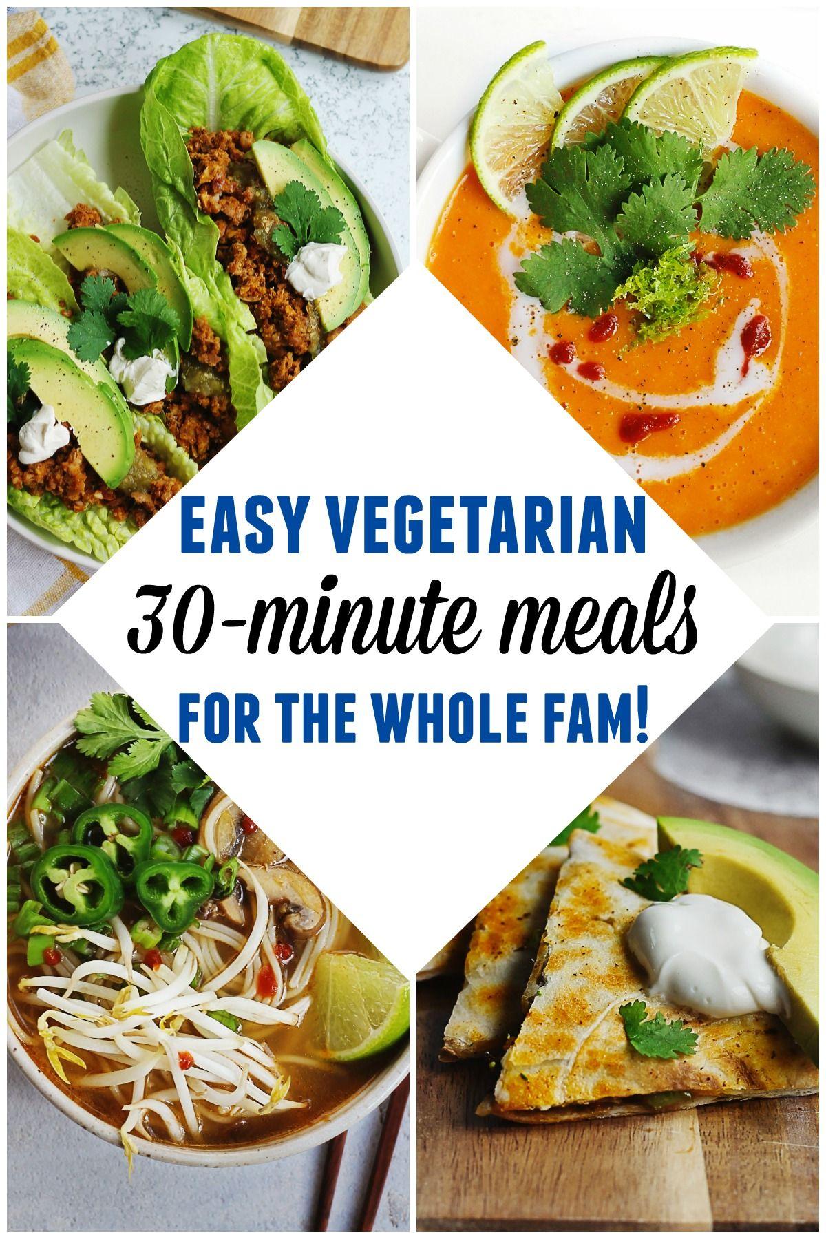 30 Minutes Or Less Vegetarian Vegan Recipes Rhubarbarians Vegetarian Vegan Recipes Vegan Dinner Recipes Vegetarian Recipes Healthy