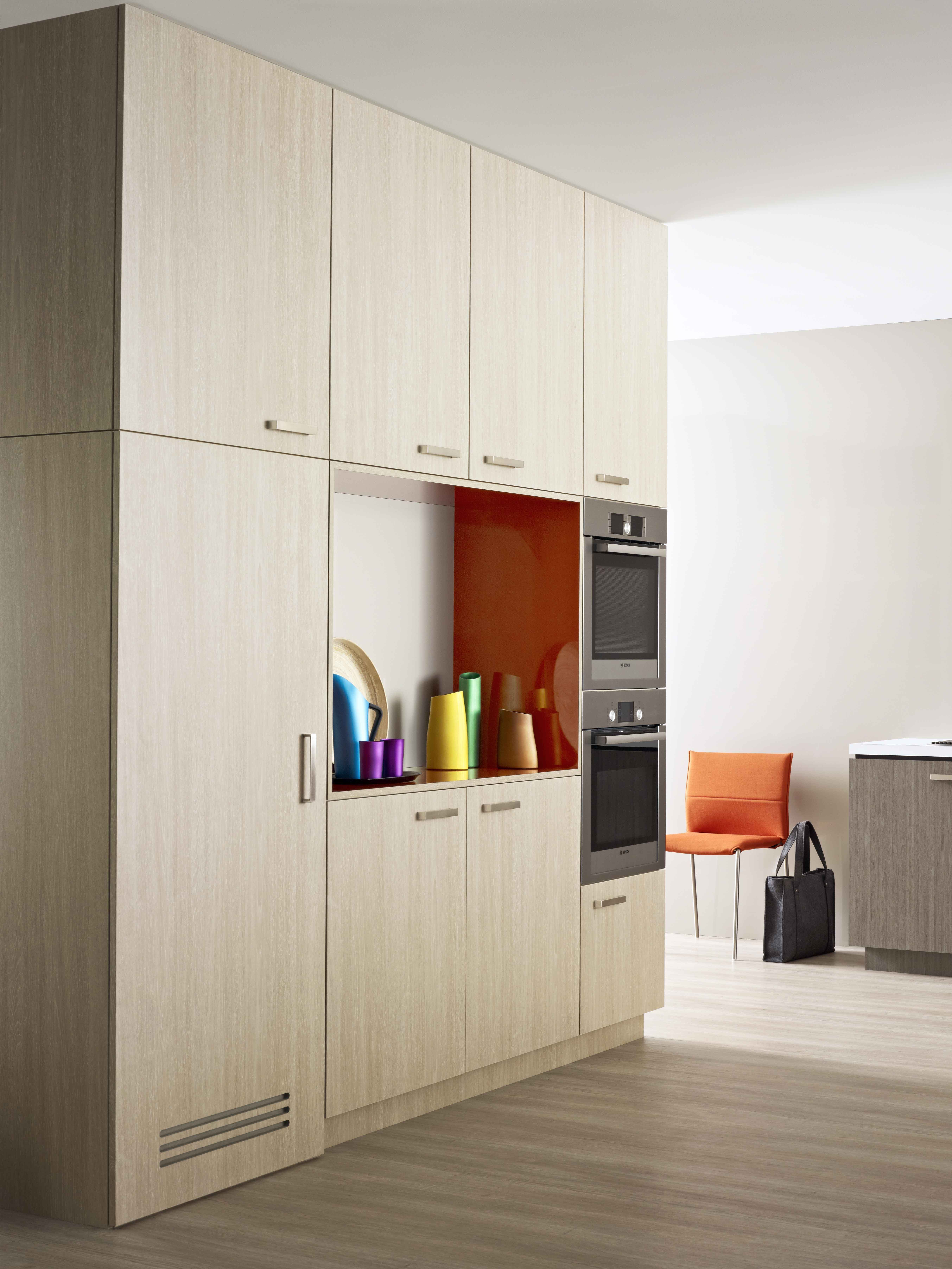 Kitchen Alcove Cupboards Laminex Contour Finedge Doors Whitewashed Oak Alcove