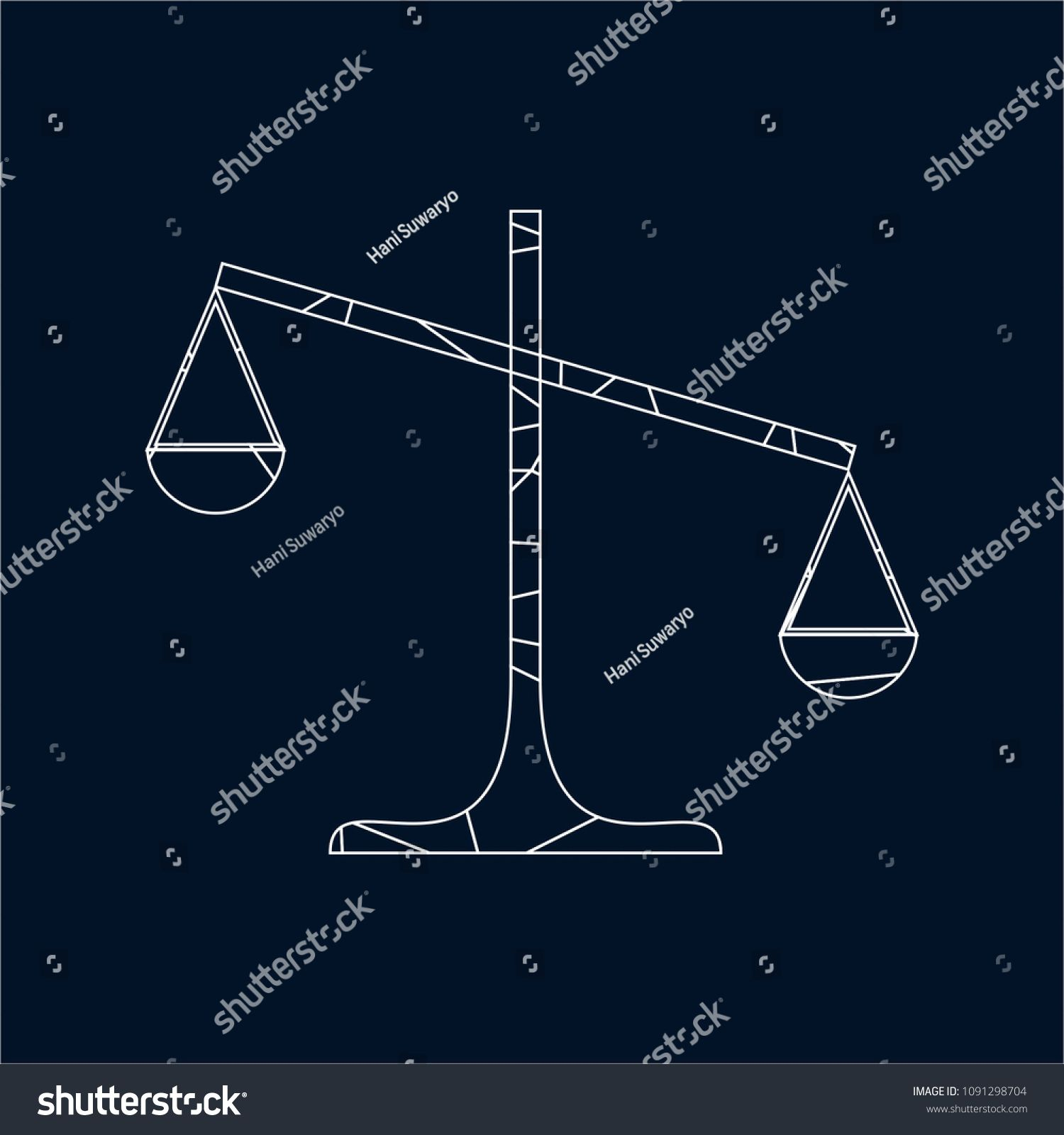 Justice scales lawyer logo scales of justice sign icon