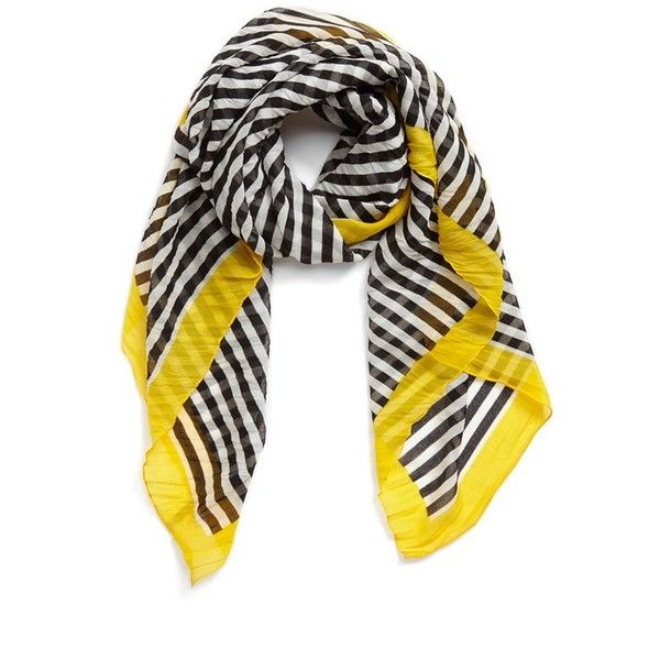 Nordstrom Stripe Square Scarf Womens Turquoise One Size One Size (£18) ❤ liked on Polyvore featuring accessories, scarves, nordstrom scarves, turquoise scarves, square scarves, striped scarves and turquoise shawl