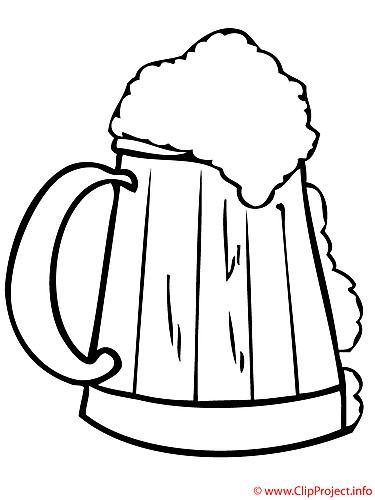 Jarro de cerveza. Dibujo para colorear gratis. | Cerveza todo lo ...