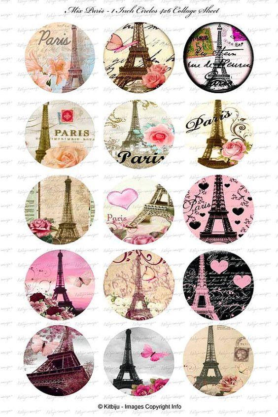 Imprimolandia: Imágenes circulares de Paris | Carteles ...