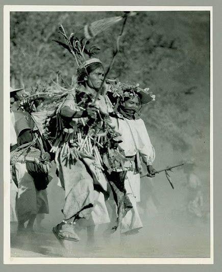 Huichol group at Pochotita, in Jalisco, Mexico - 1938