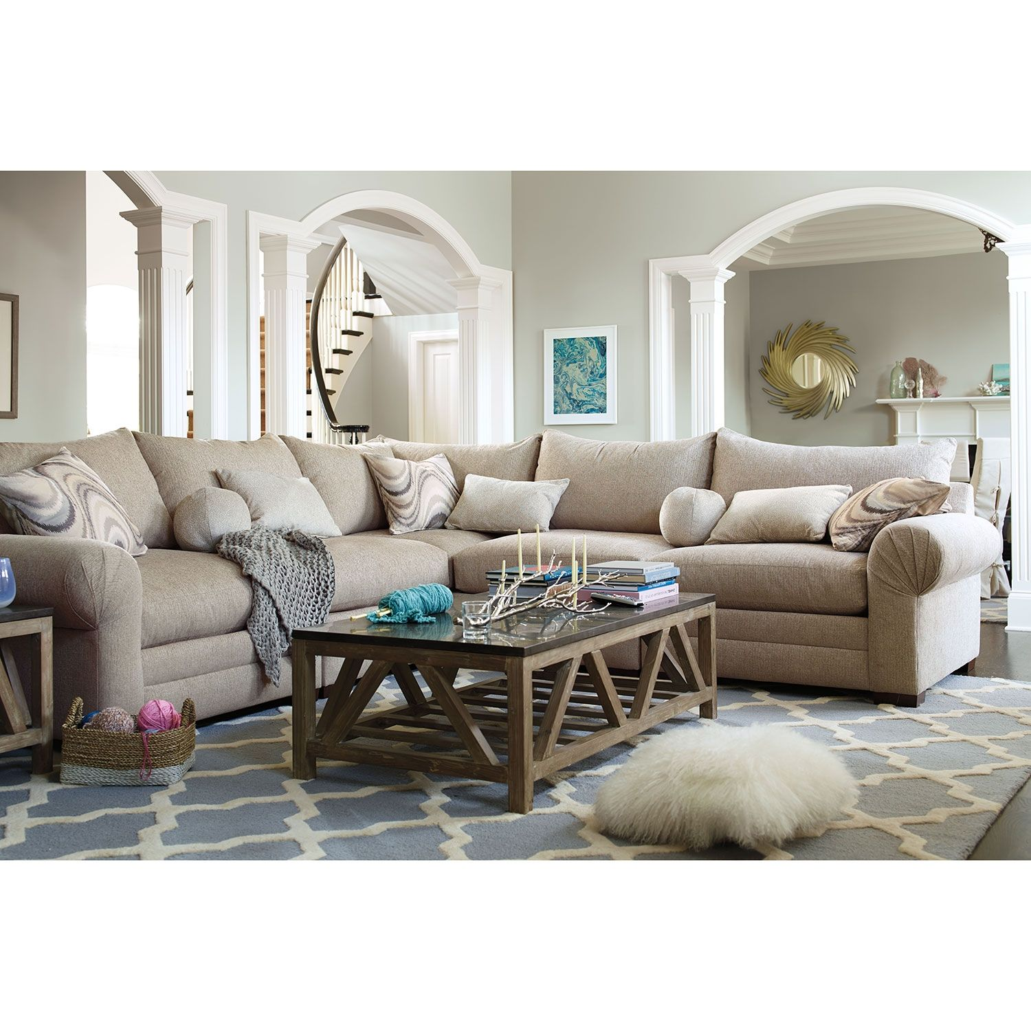 Living Room Furniture Wilshire 5 Pc Sectional Alternate