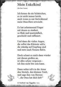 Mein Enkelkind Von Norbert Van Tiggelen Baby Poems New