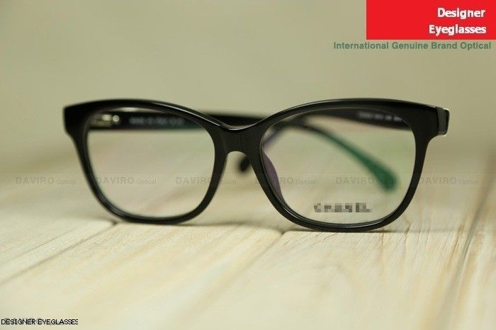 4119b037bb Chanel 3284-Q classic lady s glasses black rim with white butterfly ...