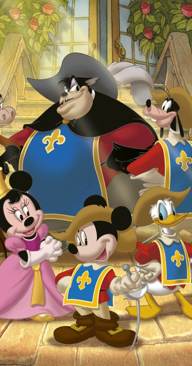 Mickey Donald Dingo Les Trois Mousquetaires : mickey, donald, dingo, trois, mousquetaires, Mickey,, Donald,, Goofy:, Three, Musketeers, (Video, 2004), Mickey, Minnie,, Disney,