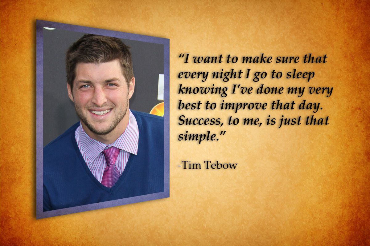 Tim Tebow Inspirational Quotes: Http://ow.ly/ajfQd Tim Tebow Quote, Start Off Your Day
