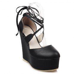 cheap lowest price Platform Lace Wedge Heel Sandals - Black 39 outlet 100% authentic sale cheap prices deals sale online cheap shop E7LIn4wqI