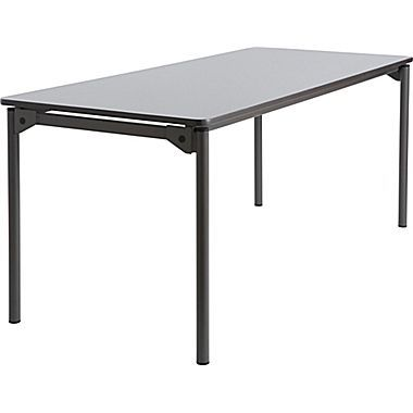 Maxx Legroom Wood Folding Table 30x72 Gray Office Wood