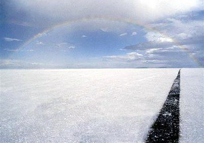 Bonneville salt flat 8mile run. Definitely want to go for a ride down here ......one day,