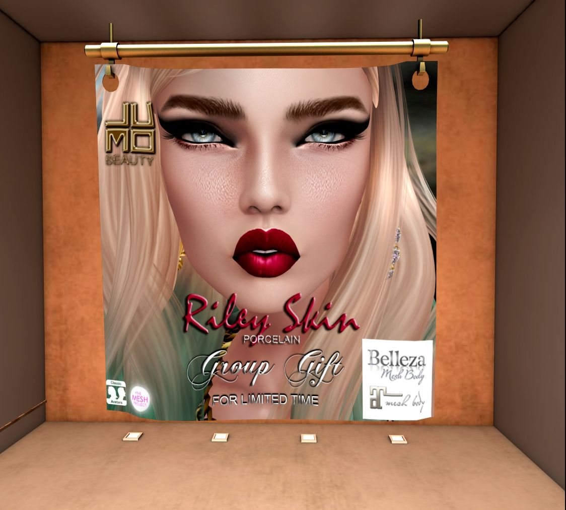 Free Riley Skin With MakeUp And Appliers | Second Life