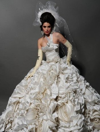 Pnina Tornai Asymmetric Ball Gown In Organza Wedding Weddingdress Klienfeld Dress Most Expensive Wedding Dress Wedding Dresses Pnina Tornai Wedding Dress