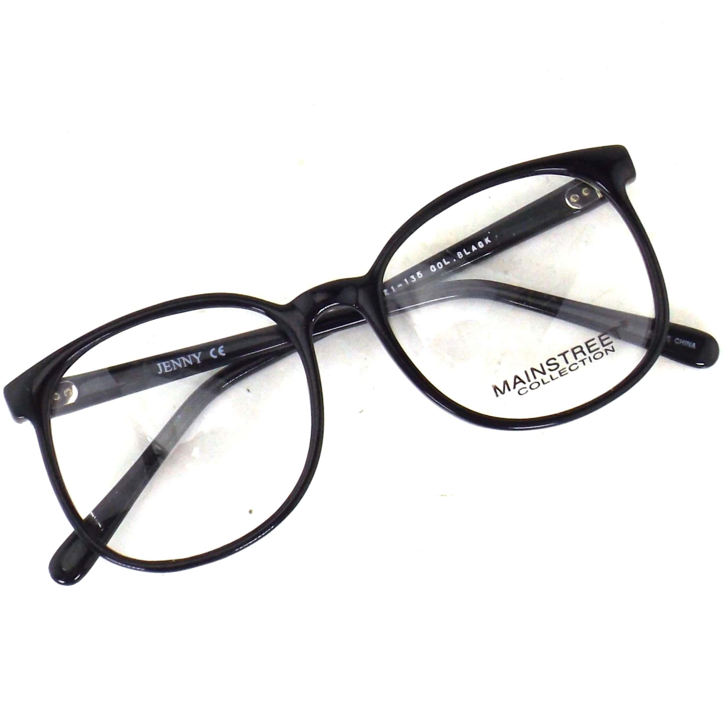 Photo of round black eyeglasses | plastic frame glasses | 80s 90s vintage NOS