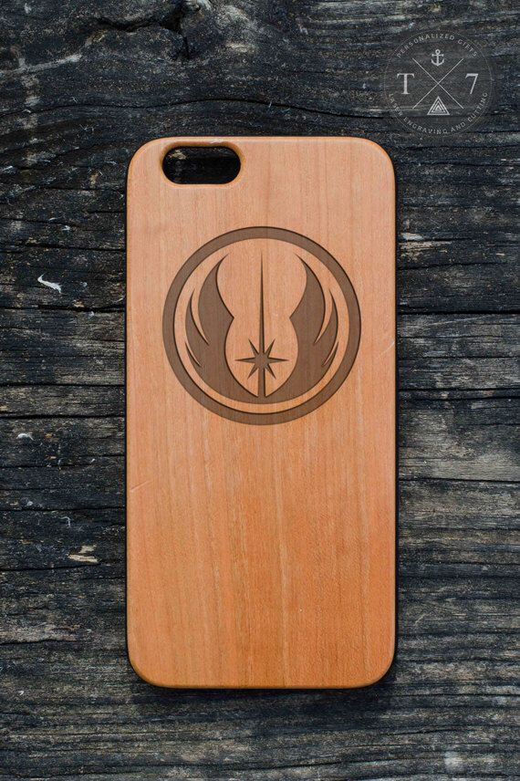 Star Wars - Jedi Wooden iPhone 5 5s iPhone 6 case Geek walnut bamaboo wood iphone case by StudioT7 on Etsy https://www.etsy.com/listing/208167052/star-wars-jedi-wooden-iphone-5-5s-iphone