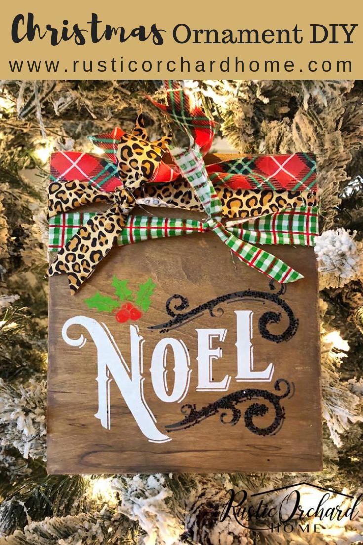Rustic DIY Wooden Ornaments Cabin christmas decor, Diy