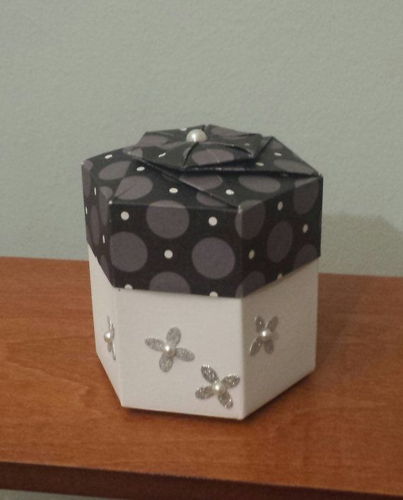 Hey, I found this really awesome Etsy listing at https://www.etsy.com/listing/178443222/origami-hexagonal-box-with-lid