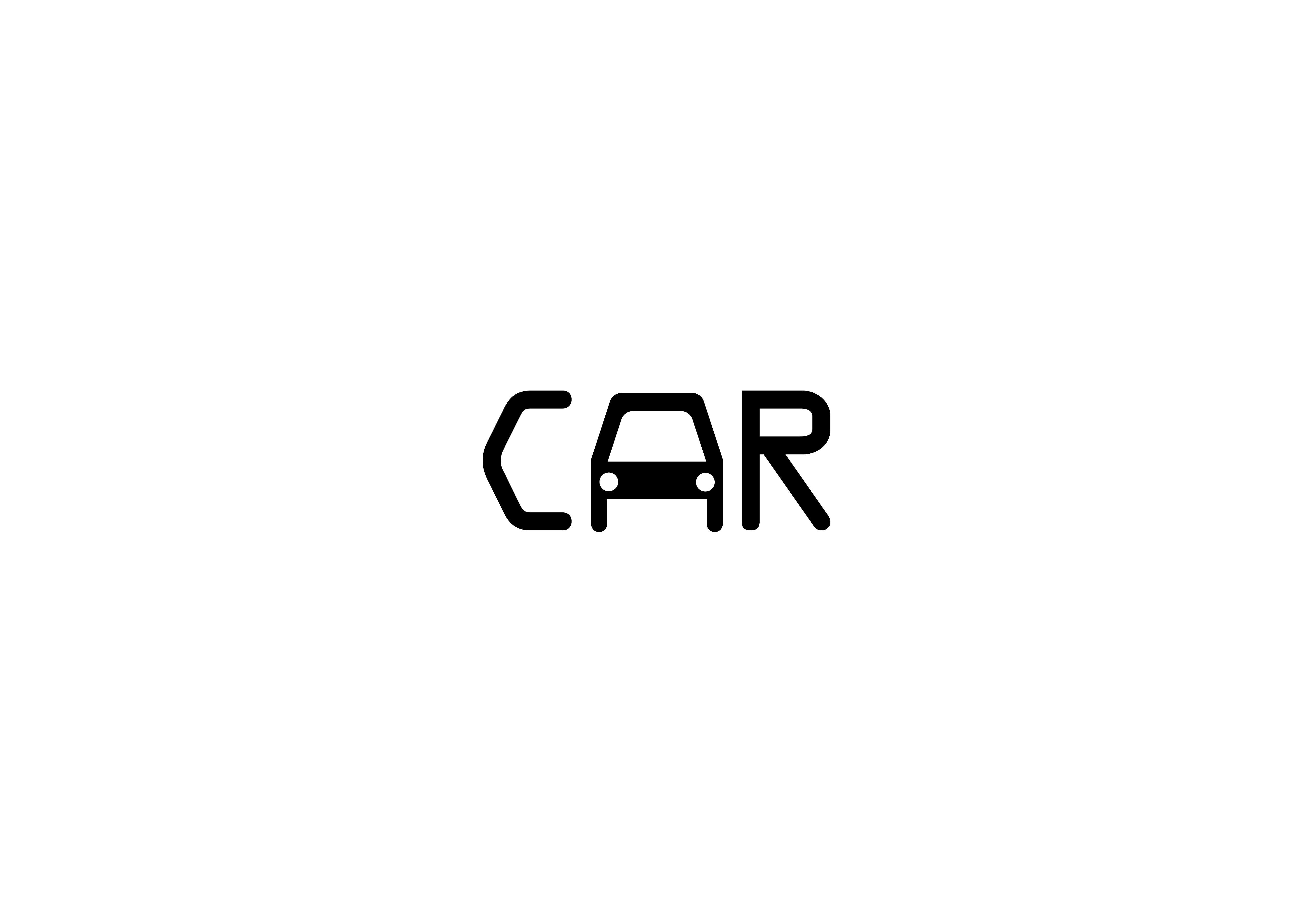 Car Wordplay Typographic logo design, Car logo design